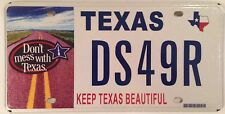Don't Mess with Texas Keep TX Beautiful license plate environment waste recycle