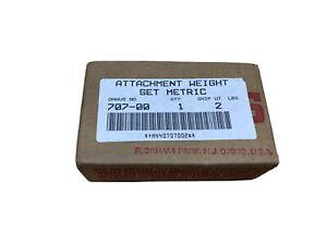 707-00  Ohaus Optional 3-Piece Metric Attachment Weight Set (1)500g (2)1000g