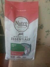 NUTRO WHOLESOME ESSENTIALS Adult Natural Dry Cat Food Salmon & Brown Rice 3lb