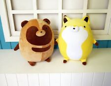 Manga Tanuki to Kitsune Raccoon dog Fox Mascot Toy Cosplay Stuffed & Plush Doll