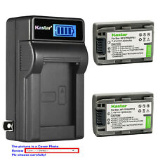 Kastar Battery LCD Wall Charger for Sony NP-FP50 NP-FP70 NP-FP71 NP-FP90 NP-FP91
