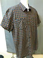 Mens EUC Orange/Gray Plaid ARCTERYX ARC'TERYX Technical S/S Button-Up Shirt XL