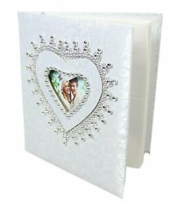 White Wedding Photo Album With Box 25 Pages 4 x 6''