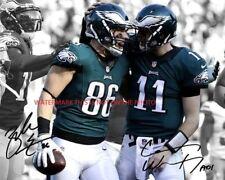 Carson Wentz & Zach Ertz Philadelphia Eagles -  Autographed 8x10 Photo (RP)