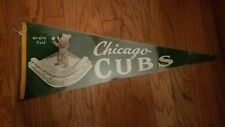 VINTAGE 1950'S CHICAGO CUBS WRIGLEY FIELD PENNANT GREEN