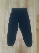 Boys Youth Black Baseball Pants Size L large Softball pre-owned practice Alleson