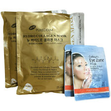 Purederm Gold Hydro Collagen Mask (2 Pack 50 Sheet) + Eye Zone Mask (60 Sheet)