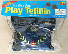My Very Own Play Tefillin / Phylacteries With Zippered Velvet Storage Bag NEW