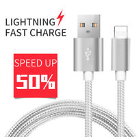 3FT 6FT 10FT Lightning USB Cord For iPhone 6s 6 7 8 X XS Data Sync Charger Cable