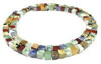 😏 Verschiedene Edelsteine Perlen bunter Würfel-MIX 4 mm Edelstein Strang 😉