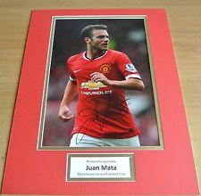 Juan Mata SIGNED autograph 16x12 photo display Manchester United Football & COA
