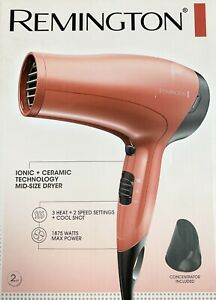 Remington D3015 Mid-Size Hair Dryer with Ionic Ceramic Technology NEW