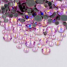 Mixed size pink flat back glitter nail art decoration rhinestone accessoires new