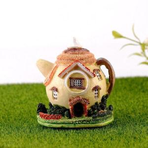 Teapot House Mini Fairy Garden Micro Moss Landscape DIY Figurines for Home DBDA