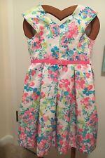 Jona Michelle Girls flowered Dress Size 5