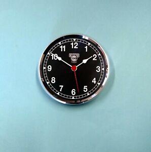 Premium 100mm Silver Bezel black dial QUARTZ clock insert movement