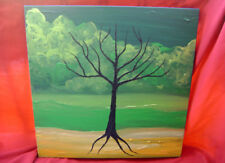 Mana Tree - Original Surreal Acrylic Painting - Stretched Canvas - 30 x 30