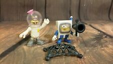Spongebob Squarepants Imaginext Sandy Squirrel Spacesuit Astronaut Figure LOT