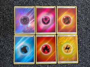 Pokemon Card Reverse Holo Energy Lot 6x - Shining Legends Set 2017 No Duplicates
