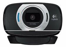 Logitech C615 HD Webcam (1080P, 30fps) w/ 360-degree swivel for work from home