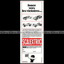 SCALEXTRIC 1966 CIRCUIT SLOT CAR RACING VINTAGE Pub Pubicité Ad Advert #C268