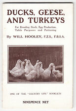 Ducks, Geese & Turkeys - Will Hooley - Vintage Country Life booklet 1919