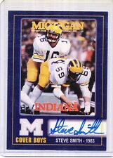 TK LEGACY MICHIGAN AUTOGRAPH STEVE SMITH MC8