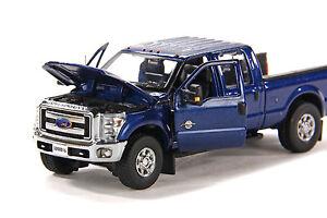 "Ford F250  Crew Cab 6 Ft Bed - ""BLUE"" - Chrome Wheels - 1/50 - Sword #SW1200B"