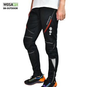 Cycling Casual Pants Sporting Hiking Mountain Bike Fleece Long Trousers Warm