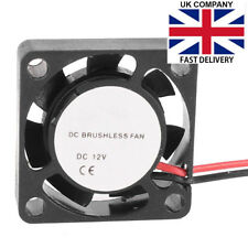 25mm X 10mm 2pin DC 12v 12000rpm Sleeve Bearing Mini Cooling Fan - UK SELLER