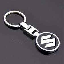 Metal Double Side Car Logo Keyring Key Chains Pendant holder with Box for Suzuki