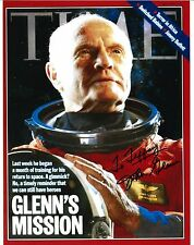 John Glenn signed 8x10 Time magazine photo / autograph