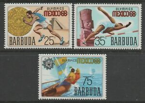 Barbuda 1968 Olympic Games in Mexico set of 3 MUH