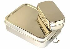 Stainless Steel Rectangular School Lunch Box School Tiffin Picnic Food Container