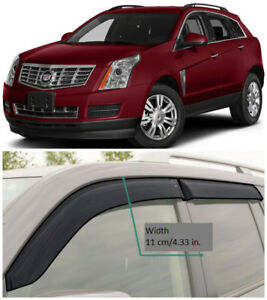CE10710 Window Visors Guard Vent Wide Deflectors For Cadillac SRX II 2010-2016
