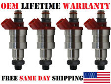 Set of 4 Genuine Siemens Fuel Injectors for 1990-19993 Mazda MPV/B2600 2.6L I4