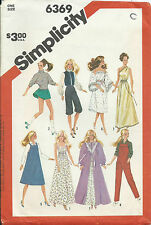 """S 6369 sewing pattern 11½"""" Barbie DOLL CLOTHES Gown Dress Skirt Blouse Knickers"""