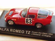 ALFA ROMEO TZ HISTORIC RALLY CAR WORKS DIECAST IXO 1964