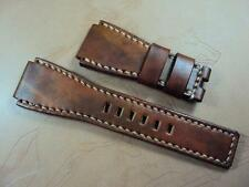 Bell & Ross Santoni style leather watch strap band fits BR-01, BR-03 or BR-02