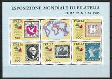 Italië Block 2 postfris  zegel op zegel