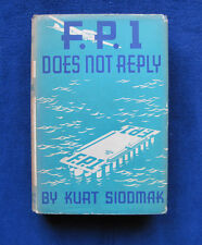 FP1 DOES NOT REPLY by KURT SIODMAK SciFi Writer DONALD WOLLHEIM'S Copy wi Stamp