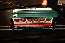 Bachmann ON3O narrow gauge Seasons Greetings trolley car used