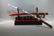 100% HANDMADE JAPANESE NINJA SECT SHRINE SAMURAI SWORD KATANA 1095 STEEL BLADE
