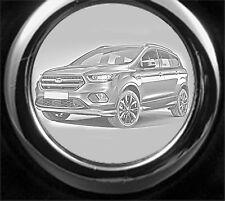 Ford Kuga Schlüsselanhänger Kuga Modell 2017 als Fotogravur inkl Textgravur