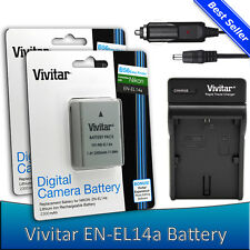 2x EN-EL14a Battery +Charger for Nikon D5600 D5500 D5300 D5200 D3400 D3300 D3200