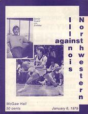 Northwestern vs. Illinois Basketball Program 1979 071717nonjhe