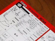 Toyota MR2 SW20 BJ 1993 Service Inspektionsblatt Datenblatt WERKSTATT HANDBUCH