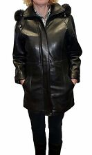 Knoles&Carter Women's Fox Fur Hooded Leather Jacket