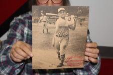 Vintage 1930's Louisville Slugger Baseball Bat Philadelphia Athletics Promo Sign