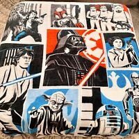 Kohl's Star Wars Classic Characters Plush Throw Blanket 60x48